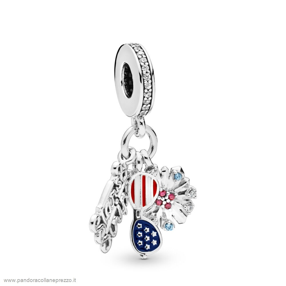 Rivenditori Pandora Online American Icons Dangle Charm