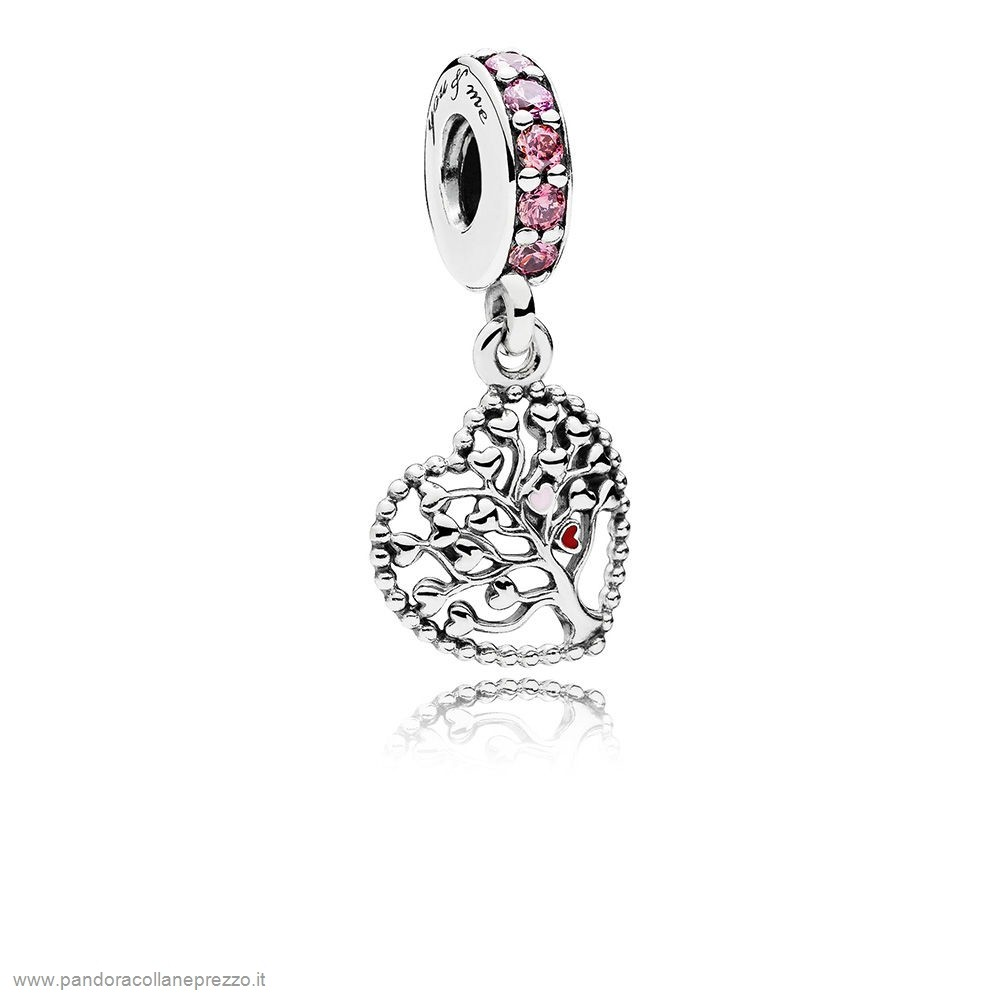 Rivenditori Pandora Online Tree Of Amore Dangle Charm Mixed Enamel Multi Colored Cz