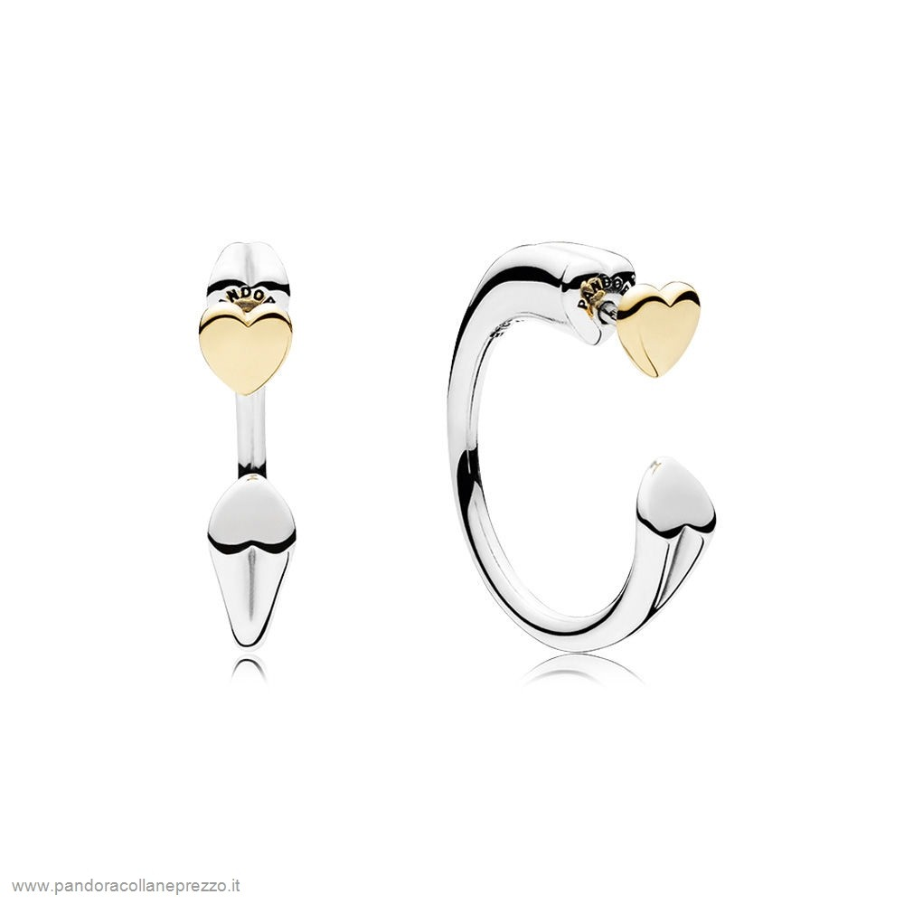 Rivenditori Pandora Online Two Hearts Earring Hoops